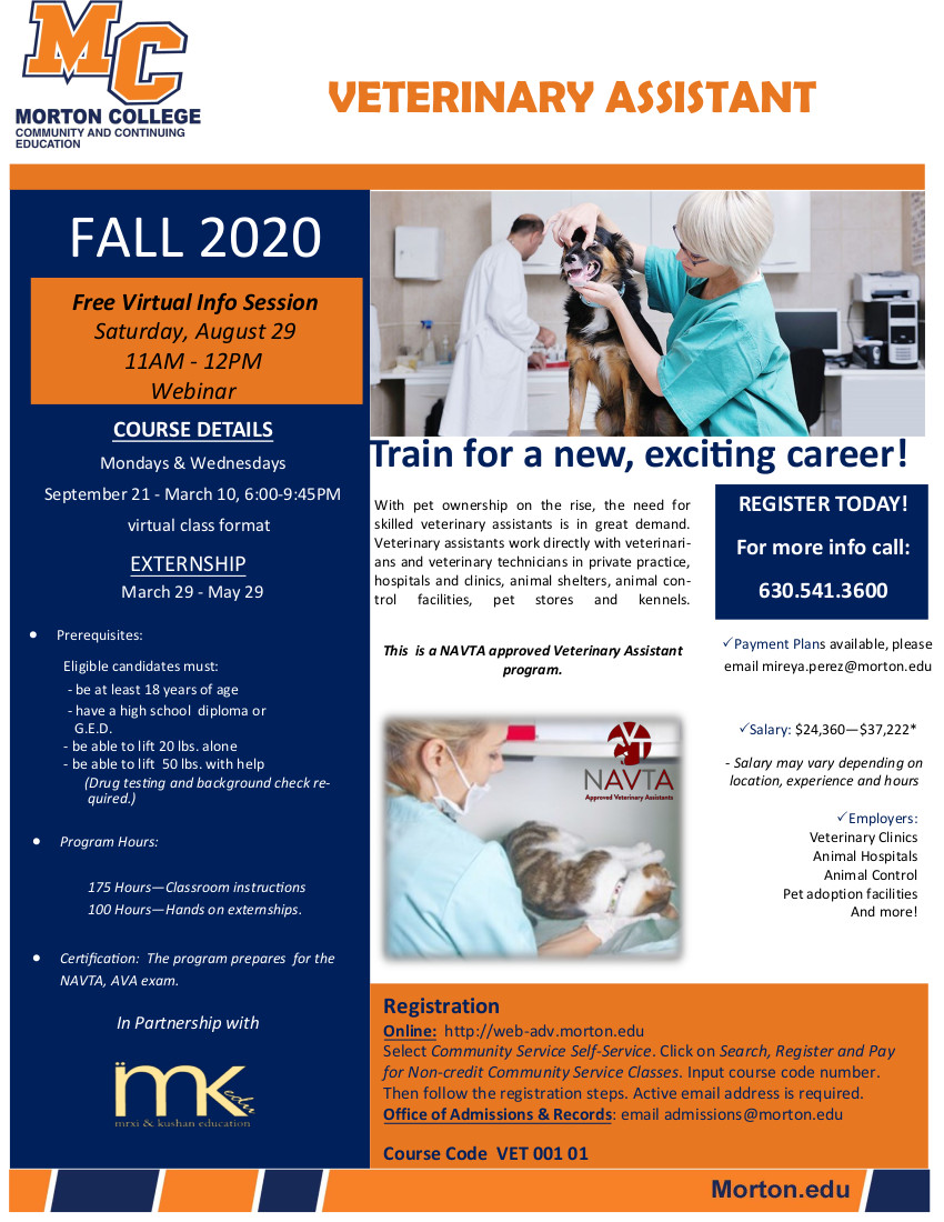 Vet Assistant Fall 2020