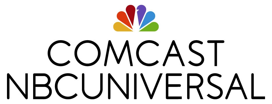 Comcast-NBCU-Color Peacock-Black Lettering